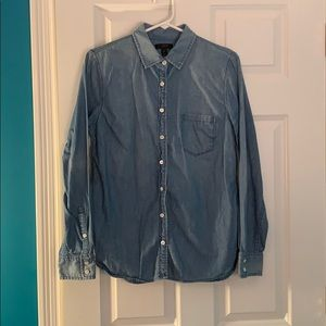 J.Crew Blue Cotton Button Up